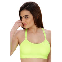 Secret Wish Fluorescent green Padded Sports Bra