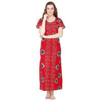 Secret Wish Cotton Red Nighty, Nightdress