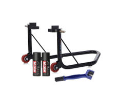 Paddock Non Dismantable Black with Motul C1 C2 150 ml and Brush