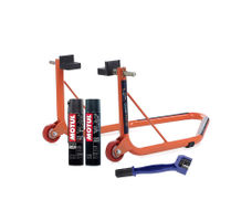 Paddock Non Dismantable Orange with Motul C1 C2 400 ml and Brush