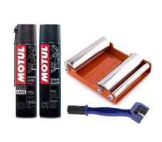 GRoller Med with Chain Clean Brush and Motul C1 C2 400 ml
