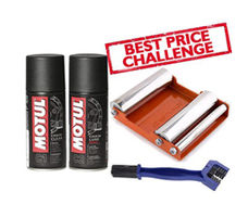 GRoller Med with Chain Clean Brush and Motul C1 C2 150 ml