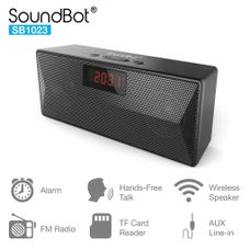 SoundBot SB1023 FM RADIO ALARM CLOCK Bluetooth Speaker