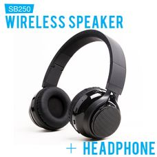 SoundBot SB250 Wireless Bluetooth Headphone Black