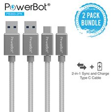 PowerBot USB Data Cable Grey - 1.2 Meter