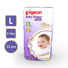 PIGEON ULTRA PREMIUM PANTS DIAPER, LARGE (32 PCS)