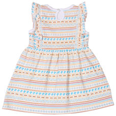 WMG BRIGHT WHITE GIRLS DRESS CR EIFFEL DRS
