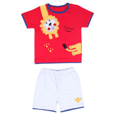 WMB FIERY RED BOYS KNIT SET AM MOJO IKS