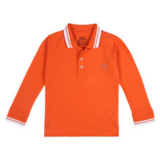 WMB PERSIMMON ORANGE BOYS POLO CR CEDAR POLO