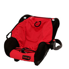 LL BABY CAR SEAT WITH CARRY COT RED