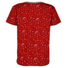SYB FIERY RED BOYS T SHIRTS SC SILVER TEE