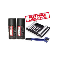 GRoller Large with Chain Clean Brush and Motul C1 C2 150 ml