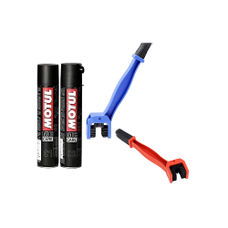Motul Combo of C2 Chain Lube (400 ml) and Motul C1 Chain Clean (400 ml) with Aarav co. Chain Cleaning Brush (LARGE, BLUE)