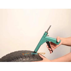 Grand Pitstop Tubeless Tyre Puncture Kit Gun & Inflation Kit With Mushroom Plugs & Air Inflator