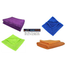 Microfiber Cleaning Cloth (30 cm X 70 cm, Assorted Color)- Pack of four