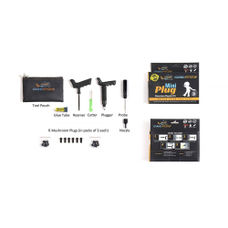Grand Pitstop Mini Plug Tubeless Tyre Puncture Repair and Inflator Combo Kit with Tire Air Pressure Gauge