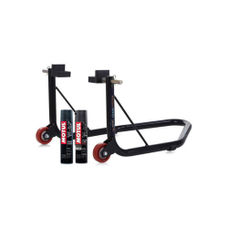GrandPitstop Rear Paddock Stand with Swingarm Rest - Black with Motul C1 and C2