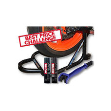 Paddock Stand Dismantlable Black with Chain Clean Brush and Motul C1 C2 400 ml