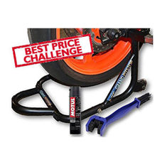 Free Chain Cleaning Brush Blue with Motul C2 Chain Lube and GrandPitstop Paddock Stand