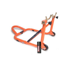 Free Motul Chain Clean C1 with GrandPitstop Rear Paddock Stand - Black/Orange Color
