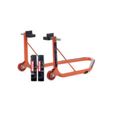 GrandPitstop Rear Paddock Stand with Swingarm Rest - Orange with Motul C1 and C2