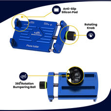GrandPitstop Claw-Grip Mobile Holder Mount - Blue