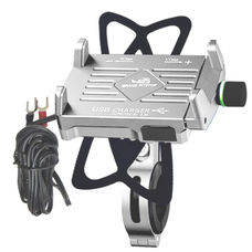GrandPitstop Claw-Grip Mobile Holder Mount with Charger - Silver