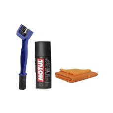 Motul C1 (150 ml) with GrandPitstop Bike Chain Cleaning Brush and Microfiber Cloth