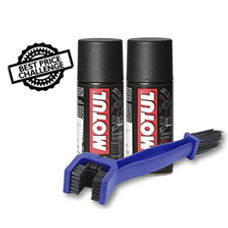 Chain Cleaning Brush with Motul Chain Clean and Lube 150 ml