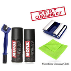 GRoller with Chain Clean Brush, Motul C1 C2 and Microfiber Cloth