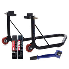 Paddock Non Dismantable Black with Motul C1 C2 400 ml and Brush