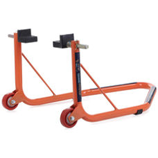 Rear Paddock Stand with Swing Arm Rest - Non Dismantable Orange
