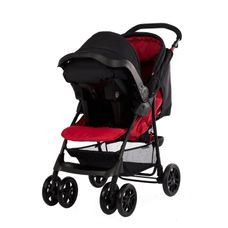 mothercare u-move pushchair travel system - red