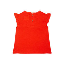 Coral Pleated T-Shirt