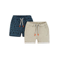 Green Striped Shorts - 2 Pack