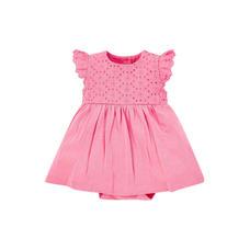 Pink Broderie Romper Dress