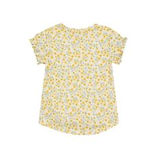 Yellow Flower Sequin T-Shirt