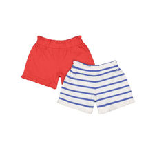 Striped And Red Shorts - 2 Pack