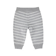 Grey And White Stripe Joggers