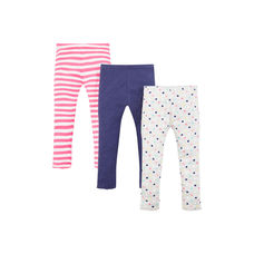 Spot And Stripe Leggings - 3 Pack