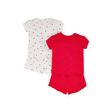 Little Ladybird Red And White Pyjamas – 2 Pack