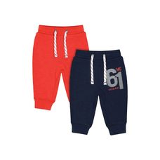Navy And Red Joggers - 2 Pack