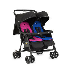 Joie Aire Twin Stroller W/ Rc Pink & Blue