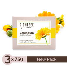 Richfeel Anti Acne Soap with Calendula Extracts (75gm) (Pack of 3)