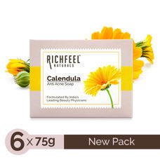 Richfeel Anti Acne Soap with Calendula Extracts (Pack of 6) (75 g)