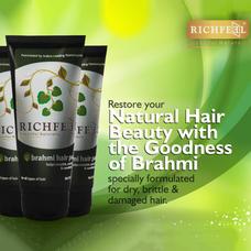 Richfeel Brahmi Hair Pack 100g (Pack Of 3)