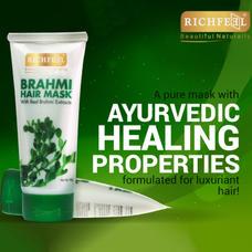 Richfeel Brahmi Hair Mask 100g (Pack Of 3)