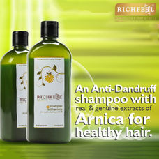 Richfeel Anti Dandruff Shampoo With Arnica 500ml (Pack Of 2)