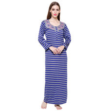 Secret Wish Women's Woolen Blue Nighty
