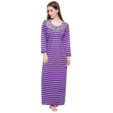 Secret Wish Women's Woolen Purple Nighty